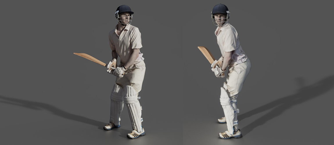 Hawkeye 3D cricketer model