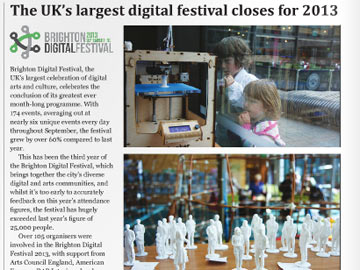 Brighton and Hove Independent: The UKs largest digital festival closes for 2013